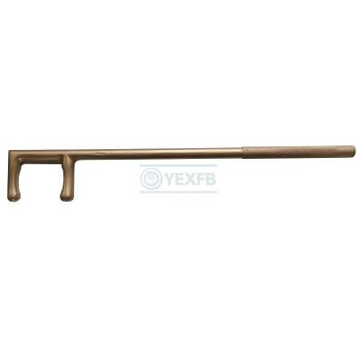 Non-Sparking Tools Valve Wheel Wrench Hook  60*500mm - OY6174B