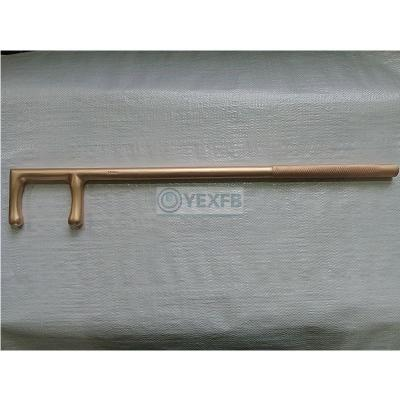 Non-Sparking Valve Wheel Hook Key Spanner Wrench 60*500mm-OY6174B